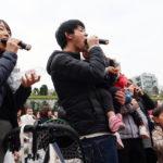 1000人が一斉に巻き寿司丸かぶり/大阪海苔協同組合