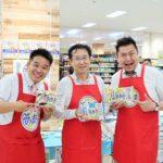 新商品「日清のそのまんま麺」実演販売にレジェンド松下、ボス水野/日清食品チルド