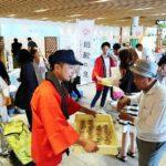 JR姫路駅前で手延素麺をアピール/兵庫県手延素麺協同組合