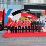 聖火リレーオリジナル車両3台を公開/日本コカ・コーラ
