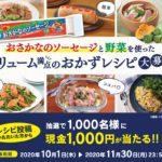 現金千円が千人に当たる/日本水産