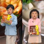 ラ王兄妹が〝噛み噛み〟プレゼンターに挑戦/日清食品