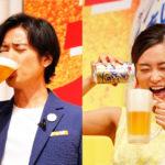 桐谷健太、小島瑠璃子がジョッキでグビッ!/キリンビール